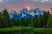 Tetons On Fire print