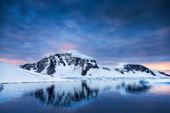 Antarctica, mountain, iceberg, reflection, cuverville island