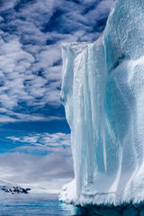 Antarctica, hope bay, iceberg, waterfall
