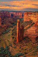 Arizona, Spider Rock, Canyon, Canyon de Chelly, Sunset