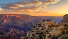 Arizona, Grand Canyon, Sunrise, Moran, Point