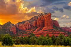 Arizona, Sedona, Sunset, Sugarloaf, Mountain