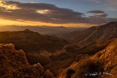 California, Death Valley, Aguereberry Point, Sunrise