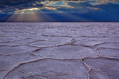 California, Death Valley, Badwater, Badwater Basin, salt flat, sunset