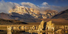 California, Eastern Sierra, Mono Lake, Mountain, Tufa, Sunrise
