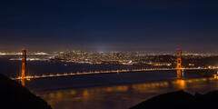 California, San Francisco, Golden Gate, Bridge, Night