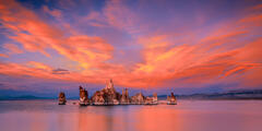 California, Mono Lake, Sunset,