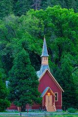California, Yosemite, Chapel, Church