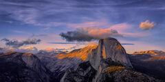 California, Yosemite, Half Dome, Sunset