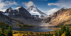 Canada, Alberta, Mount Assiniboine, Fall, Color