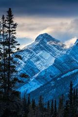 Alberta, Canada, Mountain, Winter, Wind