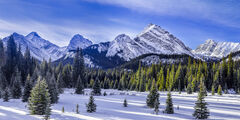 Alberta, Canada, Canadian, Rockies, Mountain, Winter