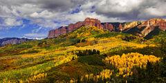 Colorado, Ridgway, Cimarron Ridge, Fall, Color