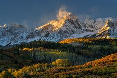 Colorado, Dallas Divide, Mount Sneffels, Fall, Color