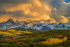 Colorado, Dallas Divide, Fall, Color, Sunset