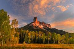 Colorado, Chimney Rock, Fall, Color