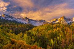 Colorado, San Juan, Mountains, Sunrise, Fall, Color