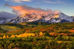 Colorado, San Juan, Mountains, Fall, Color, Sunrise, Dallas Divide