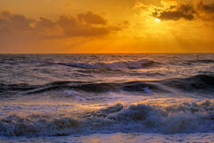 Florida, Tequesta, Coral Cove, Storm, Waves, Sunrise