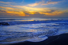 Florida, Tequesta, Beach, Sunrise, Foam, Waves