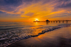 Florida, Fort Myers, Beach, Sunset