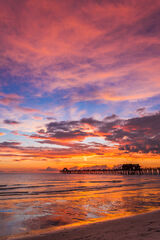 Florida, Naples, Naples Pier, sunset