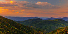 Georgia, Mountain, Fall, Sunset, Chattahoochee
