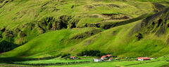 iceland, hills, farms