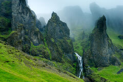 iceland, fog, nuppstadur, mountains