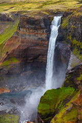 iceland, waterfall, haifoss