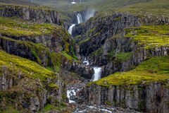 iceland, mountain, cascade