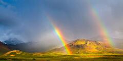 iceland, rainbow