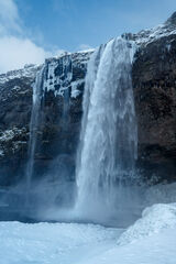 iceland, Wqaterfall, Winter, Seljalandsfoss