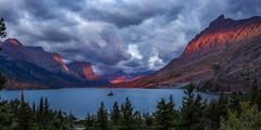 Montana, Glacier, Glacier Park, Glacier National Park, mountain, Wild Goose, Island