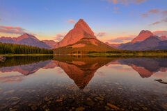 Montana, Glacier, Glacier Park, Glacier National Park, Mount Grinnell, reflection