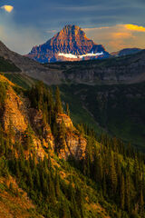 Montana, Glacier, Glacier Park, Glacier National Park, mountain, Clements, sunset