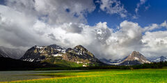 Montana, Glacier, Glacier Park, Glacier National Park, Lake Sherburne, Marsh, Clouds