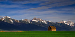 Montana, Mission Range, Mountain, Barn