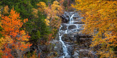 New Hampshire, Crawford Notch, Silver Cascade, Waterfall, Fall, Color