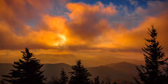 Tennessee, Smoky Mountains, Clingmans 'Dome, Sunrise