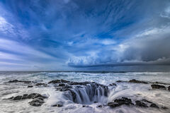Oregon, Cape Perpetua, Thors Well, Storm, Wave
