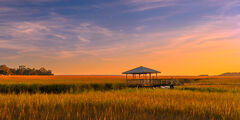 Georgia, South Carolina, Marsh, Sunset, Low Country