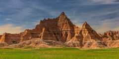 South Dakota, Badlands, National Park, Rock, Formations, Morning