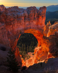 Utah, Bryce Canyon, Natural, Bridge, Sunrise, Fairyland