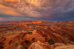 Utah, Dead Horse, State Park, Red, Rock, Sunrise