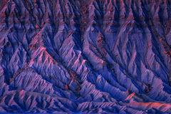 Utah, Factory Butte, Desert, Shadows, Blue Hour