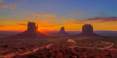 Utah, Mitten, Monument, Valley, Sunrise