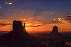 Utah, Monument, Valley, Sunrise, Mitten