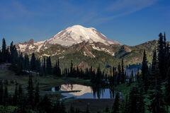 Washington, Mount Rainier, Tipsoo Lake, Reflection