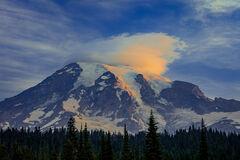 Washington, Mount Rainier, Reflection, Lake, Sunrise